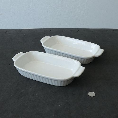 2 plats à gratin