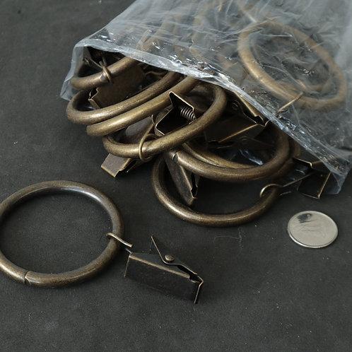 15 anneaux à clips
