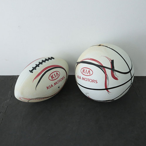 2 Ballons (Football et basketball)