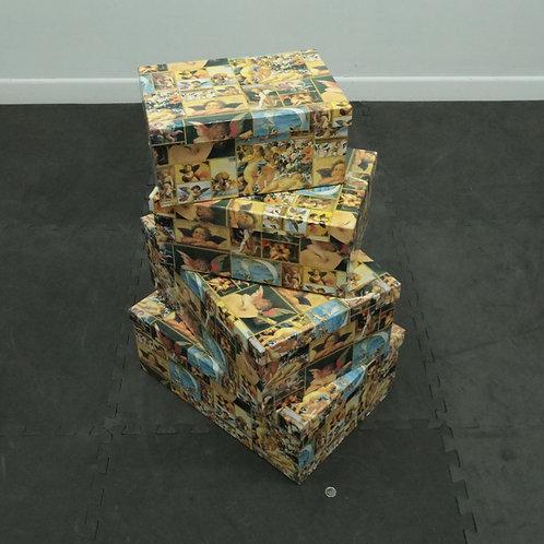 4 grosses boîtes