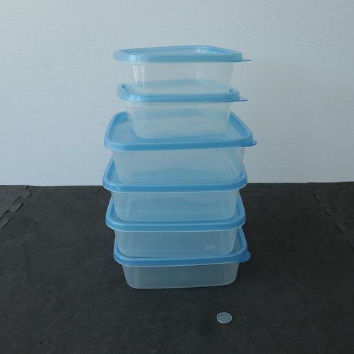 6 plats de plastique