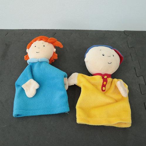 Marionnettes Caillou et Mousseline