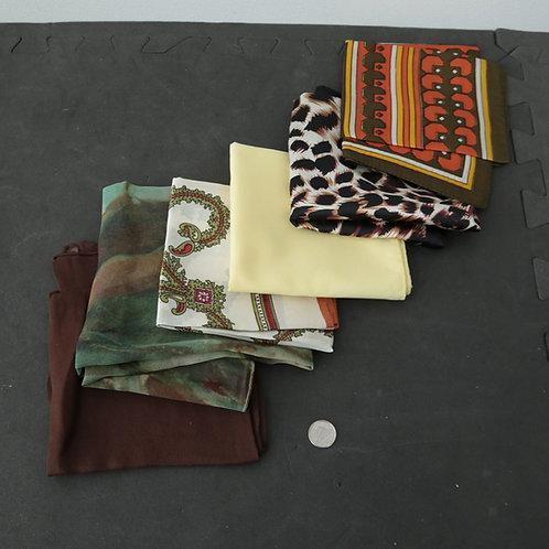 6 foulards minces