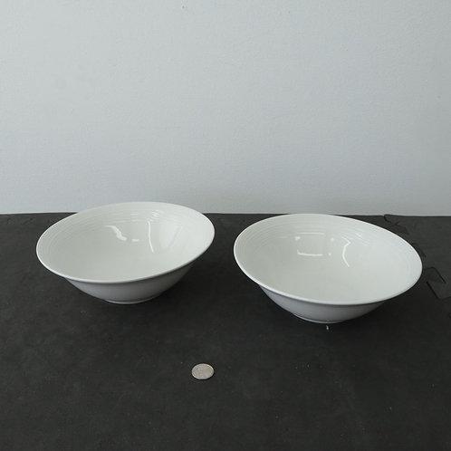 2 bols blancs