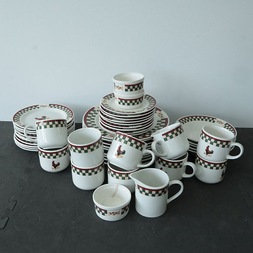 Set de vaisselle Coq