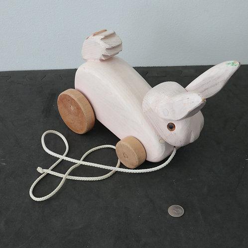 Lapin roulant en bois