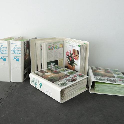 5 cartables avec fiches sur les plantes
