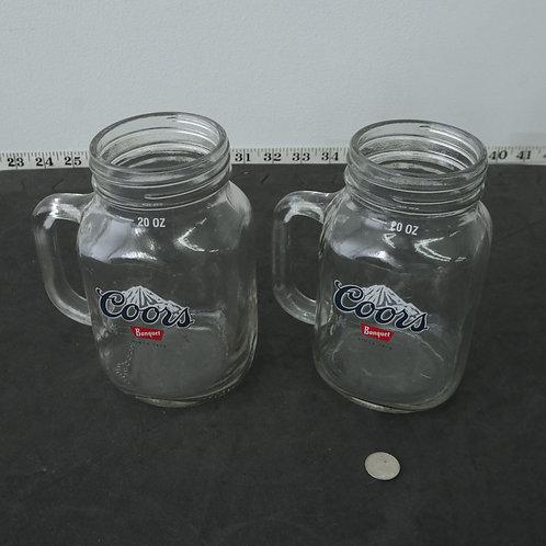 2 verres à bière-  Bocks Coors