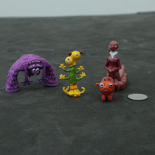 4 personnages Monsters inc.