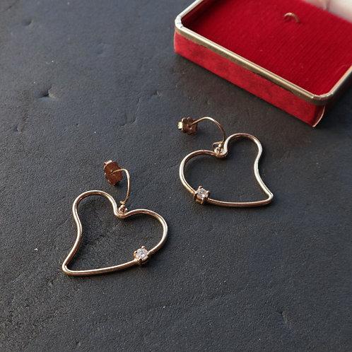 Boucles d'oreilles en cœur