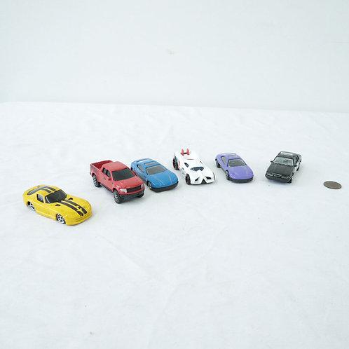 6 petites voitures