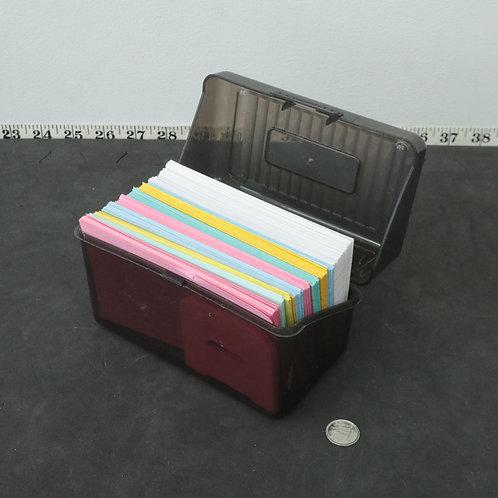 Boîte de fiches (avec fiches)