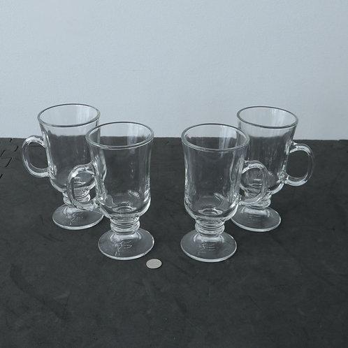 4 Tasses en verre