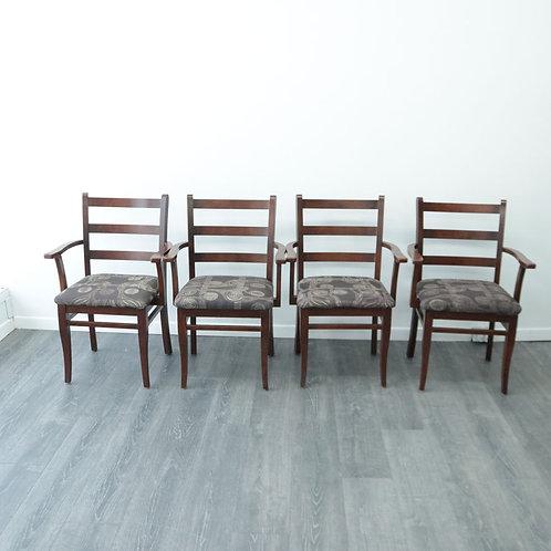 4 Chaises (bois massif)