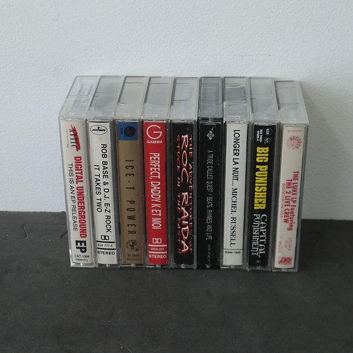9 cassettes audio