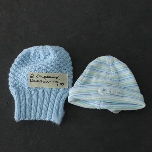 2 chapeaux pour nouveau-né