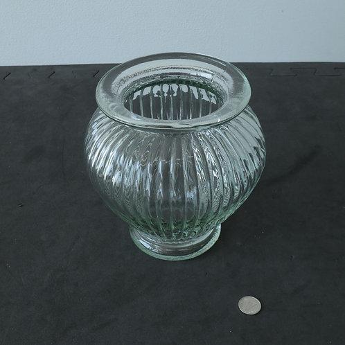 Vase en verre épais