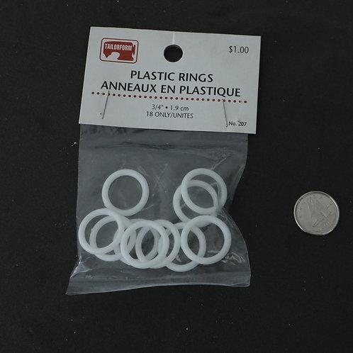 Anneaux de plastique
