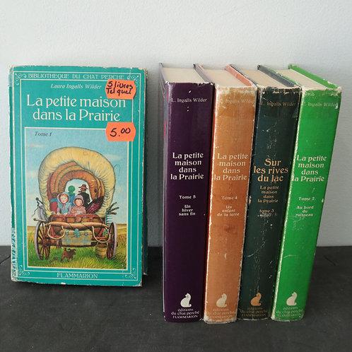 5 livres- La petite maison dans la prairie