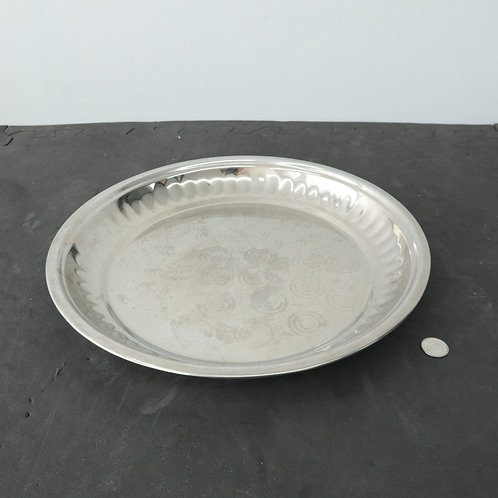 Assiette- plat de service en métal