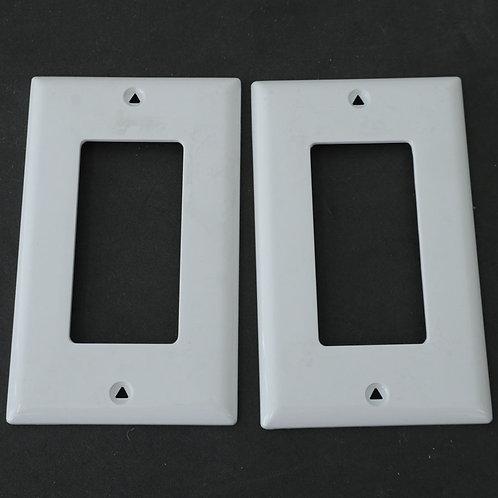 2 Plaques pour interrupteur ou prise