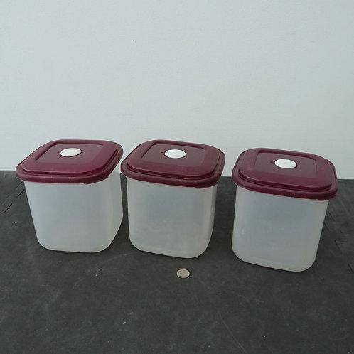 3 boîtes alimentaires hermétiques