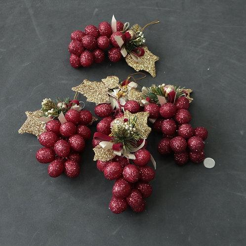 5 grappes de raisins de Noël