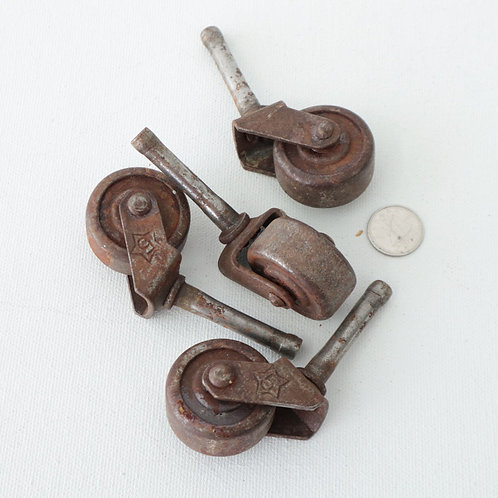 4 roulettes pour meubles antiques