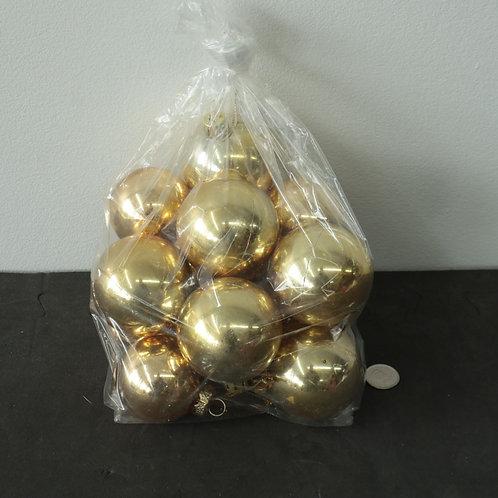 12 boules dorées