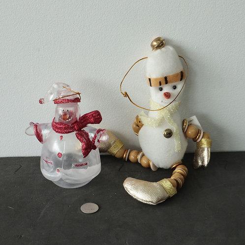 2 décorations de Noël
