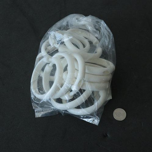 12 anneaux de douche blanche