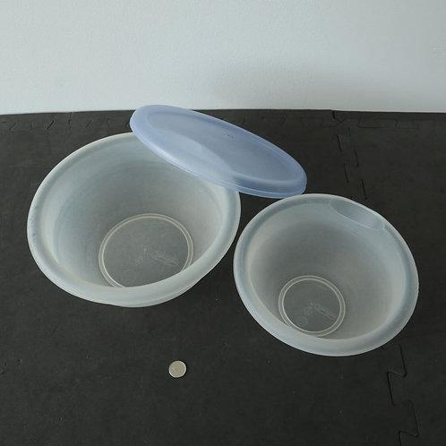 2 bols (avec un couvercle)