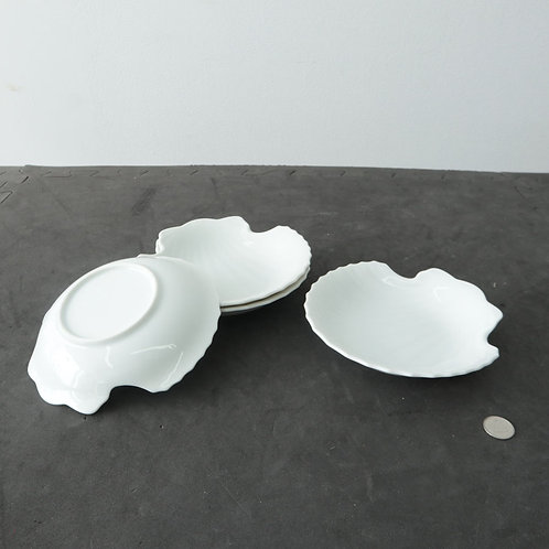 4 coquilles St-Jacques en porcelaine