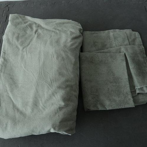 1 drap contour pour lit double (54 po) et 2 taies d'oreiller
