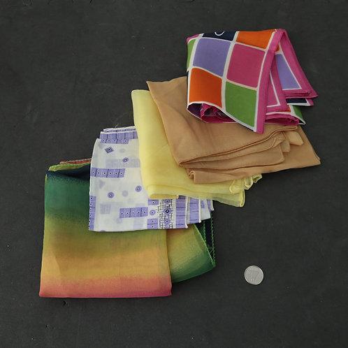 5 foulards minces