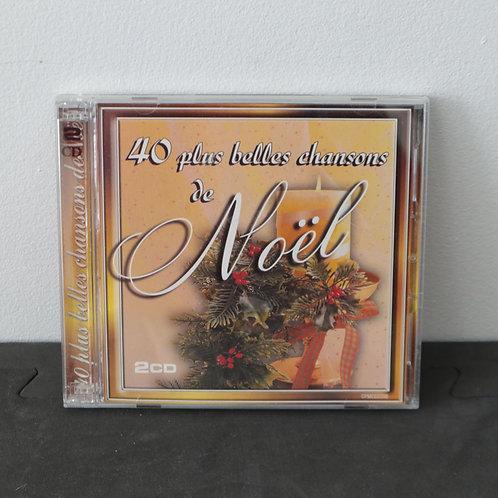 40 Plus Belles Chansons de Noël (2 CD)