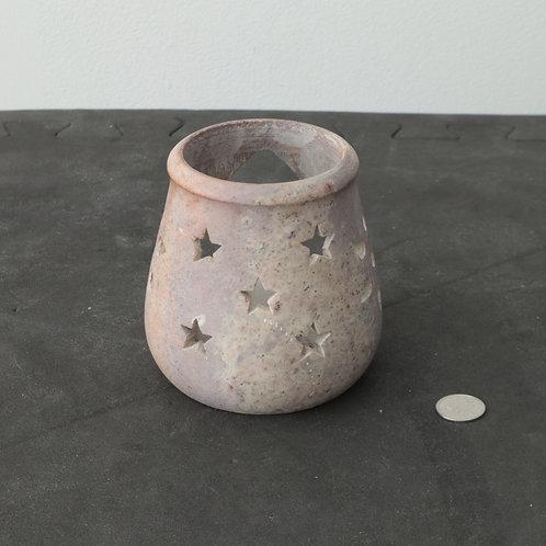 Chandelier pierre avec chandelle