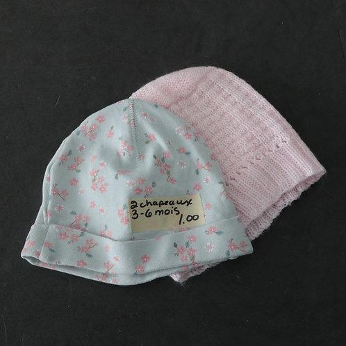 2 chapeaux ( 3-6 mois)