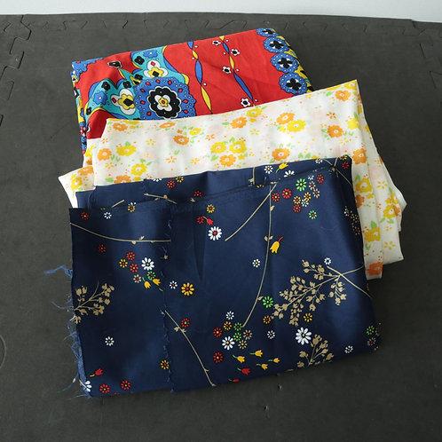 3 tissus polyester