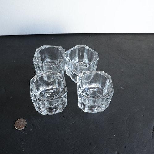 4 Récipients en verre pour Cocos ou Chandeliers