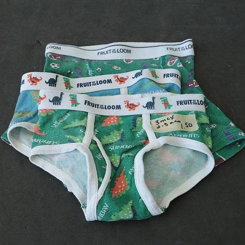 3 sous-vêtements (2-3 ans)