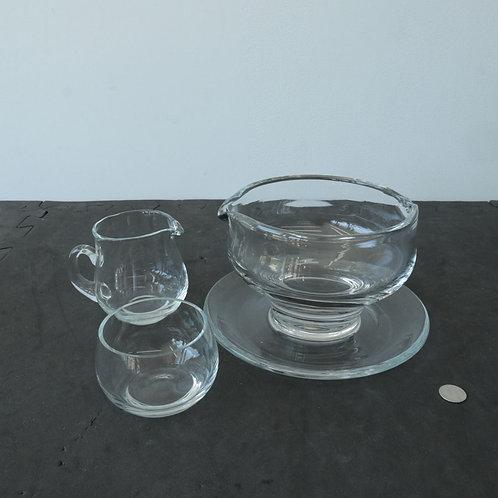 3 pièces en verre