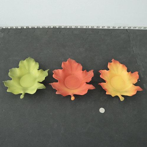 3 supports à lampions Feuilles d'automne