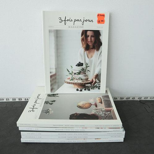 (6 livres) Magazine 3 fois par jour