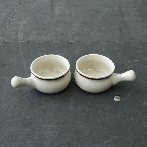 2 bols à soupe à l'oignon