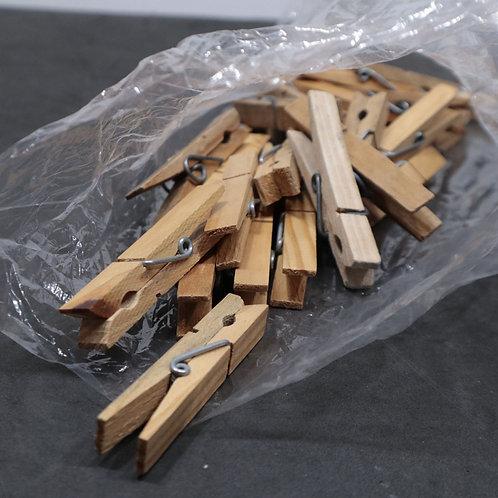 30 épingles à linge en bois