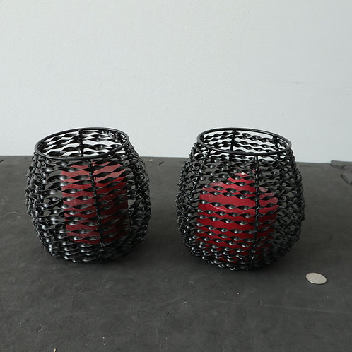 2 chandeliers avec chandelles