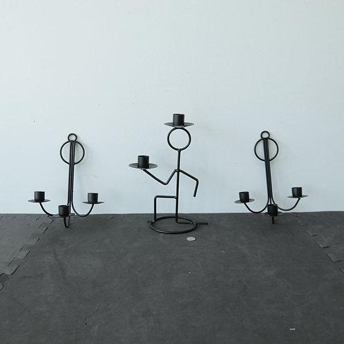 3 chandeliers (2 muraux, 1 de table)