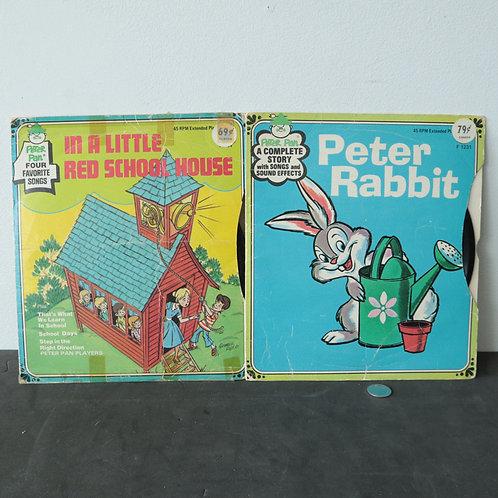 2 disques  45 tours enfants