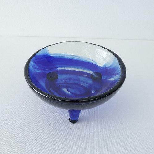 Bol bleu (verre soufflé)